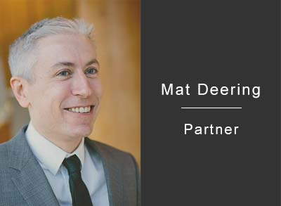 Mat Deering, partner at Endless LLP